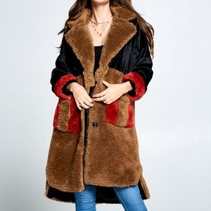 BOUND TO YOU FAUX FUR COAT